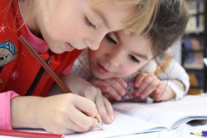 Children Drawing and learning