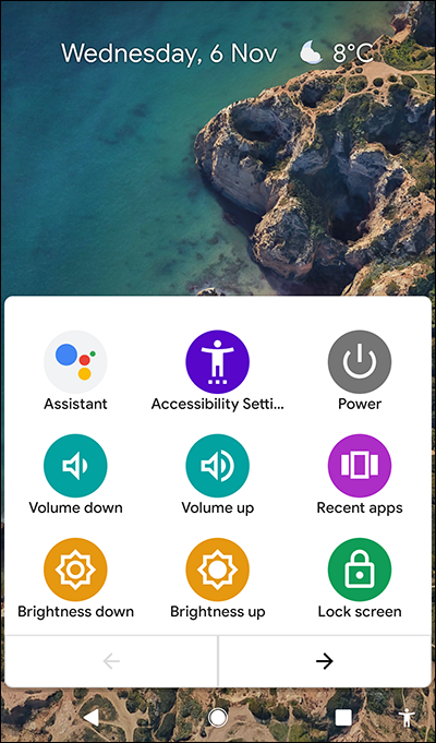 android accessibility menu. Android features for dyslexics